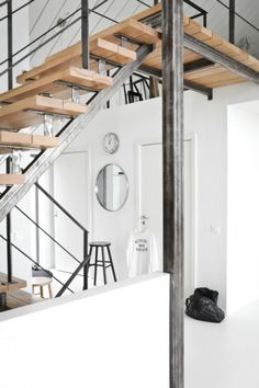 idea for under counters - steel framing (I like the thin plate use) with wood tops
