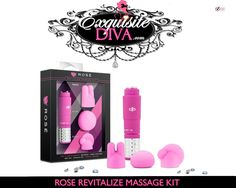 Exquisite Diva's Rose Revitalize Massage Kit can be used with or without the included silicone attachments. Without the attachments, it is 3 point tip focuses precise vibrations on your body. With the attachments, each shape provides a unique experience and will excite you in a different way. $18.99