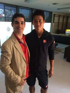 Nishikori meets Javier Fernández, world figure skating champion | Barcelona Open Banc Sabadell