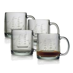 Clipper Ship Coffee Mugs (Set of 4)