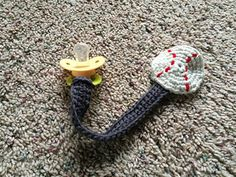 Crochet Patterns Ravelry Ravelry: Crochet Pacifier Clip pattern by Grey Walls, Blue Couch Crochet Bib, Crochet Crafts, Easy Crochet, Crochet Projects, Ravelry Crochet, Free Crochet, Crochet Pacifier Holder, Arm Knitting, Crochet Accessories