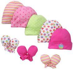 Amazon.com: Gerber Baby-Girls Cupcakes Cap And Mitten Bundle, Pink, 0-6 Months: Clothing  http://www.amazon.com/Gerber-Baby-Girls-Cupcakes-Mitten-Bundle/dp/B00AR8Y6PA/ref=sr_1_238?ie=UTF8&qid=1385858266&sr=8-238&keywords=newborn