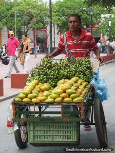Street cart of mangos and mamons in Santa Marta, Colombia.