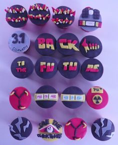 Alright, everyone can stop trying. I found the best thing on Pinterest!! Back to the future Cupcakes