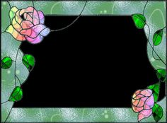 Surrounded by Roses Stained Glass Frames, Stained Glass Art, Glass Mirrors, Glass Picture Frames, Rose Photos, Mosaic Ideas, Art Deco Design, Mosaics, Tiffany
