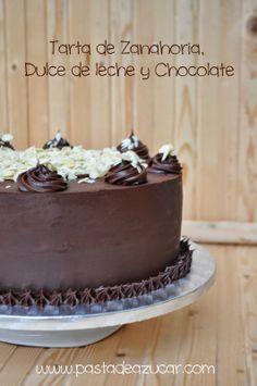 Pasta de Azucar: Tarta de Zanahoria, Dulce de leche y Ganache de chocolate.(mega entrada)