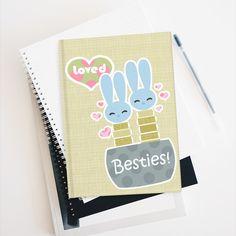 Blue Bunnies Succulents   Journal - Blank - Journal