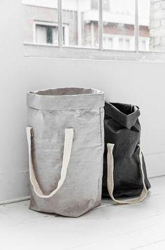 waschküche einrichten wäschekorb aus stoff nähen
