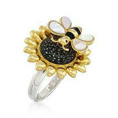 Sunflower Ring, Bee Happy, Sunflowers, Brooch, Rings, Crafts, Life, Accessories, Jewelry