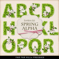 Far Far Hill - Free database of digital illustrations and papers: New Freebies Spring Alpha