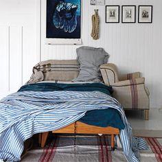 Blue bed linen, Blue Rooms, Decorating Ideas