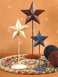 Rustic Americana Standing Stars - Decorative Accessories -- You can find more details by visiting the image link. (This is an affiliate link) #DecorativeAccessories