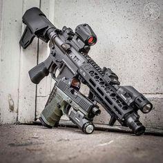 "tacticalsquad: "" tgs_arms Featherweight set and stock low drag mount E-BCG grip flat trigger "" Military Weapons, Weapons Guns, Guns And Ammo, 300 Blackout Pistol, Ar Pistol Build, Ar Build, Armas Ninja, Templer, Custom Guns"
