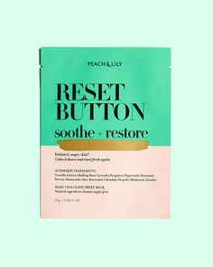 Peach & Lily RESET BUTTON | Centella Asiatica, Skullcap Root, Lavender, Bergamot, Peppermint, Rosemary, Freesia, Chamomile, Aloe, Rosewater, Calendula, Propolis, Mushroom, and Licorice