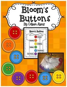 (Partially Editable- You can add your own questions.)Incorporate Bloom's Taxonomy language and questioning in your daily lessons with this set of Bloom's Button Question Cards. Great to use with any fictional read aloud.Have students take a button break.