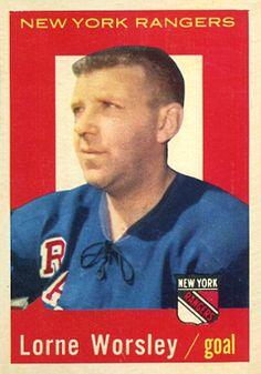 gump worsley hockey cards | 1959 Topps Gump Worsley #15 Hockey Card