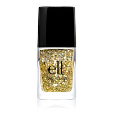e.l.f. Essential Glitter Nail Polish - Gold Star. I love this polish looks great alone or over any other color.