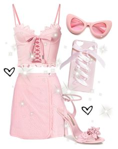 """""""be happy, be pink!! ♡"""" by fiftiesprincess on Polyvore featuring beauty, Puma, Carven, Sophia Webster and ZeroUV"""