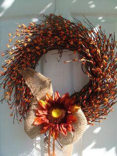 Fall wreath, autumn wreath, front door wreath, outdoor wreath, wreath