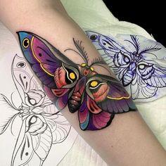 Dope Tattoos, Unique Tattoos, Beautiful Tattoos, Body Art Tattoos, Girl Tattoos, Traditional Tattoo Flowers, Neo Traditional Tattoo, Traditional Tattoo Sleeves, Traditional Tattoo Animals