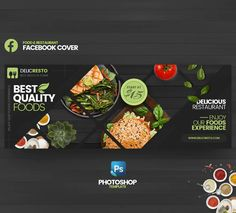 Food & Restaurant Facebook Cover Template PSD