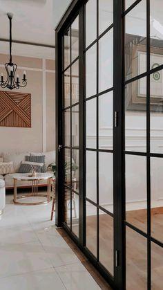 Victorian House Interiors, Victorian Homes, Small Room Layouts, Simple Ceiling Design, Living Room Partition, Door Gate Design, Glass Barn Doors, Aesthetic Desktop Wallpaper, Office Interior Design
