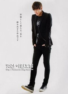 Lee Min Ho : Young Lead korean actor  The boy Who has a Long Long legs, a perfect profile, cute dimples and sexy look and charming  smile