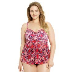 a74b719f72e 38 Best Plus Size Floral Swimwear images