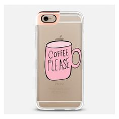 iPhone 6 Plus/6/5/5s/5c Case - Coffee Please ($40) ❤ liked on Polyvore featuring accessories and tech accessories