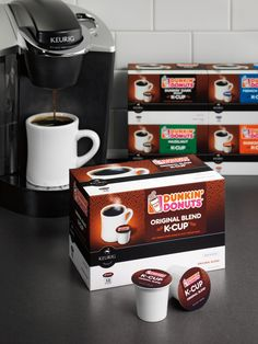 And Dunkin Donuts K-Cups! Love my Dunkin! One Love Coffee, Coffee Is Life, But First Coffee, Best Coffee, Coffee Break, My Coffee, Coffee Shop, Coffee Cups, Coffee Lovers