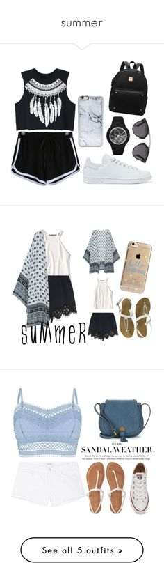 summer by jayceerami on Polyvore featuring polyvore, fashion, style, adidas Originals, Zero Gravity, Christian Dior, WithChic, clothing, American Eagle Outfitters, Chloé, Agent 18, Lipsy, Aéropostale, J Brand, Nanette Lepore, Converse, art, Under One Sky and H&M