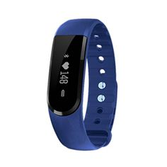 Duseco Heart Rate Monitor Fitness tracker Activity Tracker Watch with Sleep Monitor,Calorie and Step Counter,Call Notification,Music Control,Bluetooth 4.0, Water Proof,App for Android and IOS (Blue)