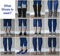 LulaRoe Leggings paired with shoes - 11 plus different shoes to wear with leggings