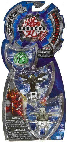 """BakuTrinity: Bakugan Mechtanium Surge Series - """"NOT"""" Randomly Picked (C97GL6) by Spin Master. $19.99. Starter pack includes: 3 Bakugan, 3 ability cards, and 3 metal gate cards.. Bakugan Mechtanium Surge BakuTrinity series. For age 5 and up. Warning! Risk of serious digestive injuries in the event that magnets are swallowed!. Bakugan Dimensions ended on June 30th 2011 & Bakugan DNA codes would no longer be valid.. """"NOT"""" randomly picked, check out the product image as a r..."""