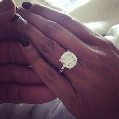 Come play our guessing game with celebrity engagement rings - do you know who this massive stunner belongs to?