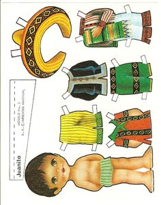 Juanita paper doll by Maria Pascual Doll Toys, Baby Dolls, Paper Art, Paper Crafts, Paper Dolls Printable, Vintage Paper Dolls, Paper Toys, Print And Cut, Doll Accessories