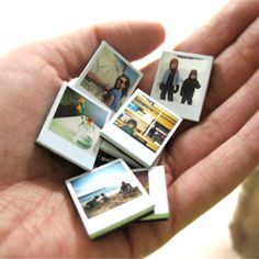 Make your own polaroid magnets our of family pitures to neat.