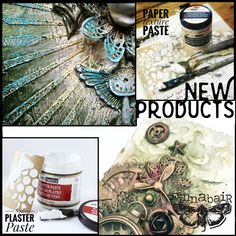 Two new fabulous texture pastes - Plaster and Paper. Check the blog for more information! https://loom.ly/zahBI4Q