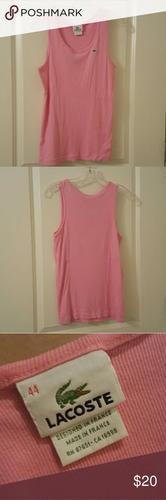 Lacoste pink tank top Pink tank top by Lacoste Lacoste Tops Tank Tops