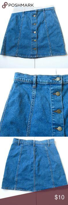 8b7f661a22 90s BDG High Waist Blue Jean Mini Skirt Super cute 90s light denim blue jean  mini