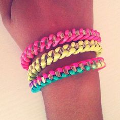#bracelet #braided #fluo #fashion #lookoftheday #shopping #outfit #charm  Facebook Page https://www.facebook.com/LindsaysStuff?ref=hl