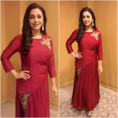 Juhi Chawla at the INSCON conference in Mumbai wearing an outfit by Kalki Fashion Picture: Instagram