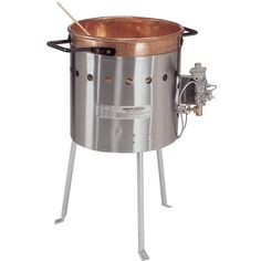 Gold Medal 2081 Caramel Corn Kettle w/ Handles, Copper Carmel Corn, Self Sufficient Homestead, Classic Candy, Food Service Equipment, Gas Stove, Candy Apples, Caramel Apples, Kettle, Cooking