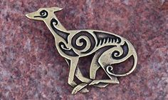 Large Greyhound Pin - Click For Enlargement