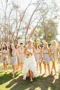 Floral pattern Snippets, Whispers & Ribbons - Bridesmaids