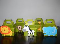 Jungle/Safari Party Favor Boxes  Green by maniandme on Etsy, $17.00
