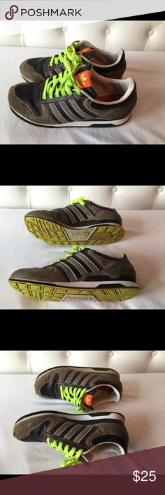 Men's Adidas Shoes Sz 10 Men's Adidas shoes size 10 in grey and green. adidas Shoes Athletic Shoes