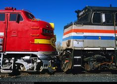 RailPictures.Net Photo: ATSF 347C Atchison, Topeka & Santa Fe (ATSF) EMD F7(A) at Sacramento, California by Mike Danneman