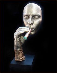 Havana Man Cigar Smoking Statue Sculpture John Cutrone