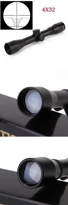 [Visit to Buy] Airsoftsports Gun Riflescope 4x32 Rifle Scope Reticle Fiber Optic Sight Scope Rifle/airsoft Gun Hunting airsoftsports Gun #Advertisement